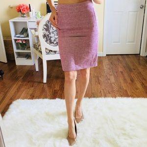 NEW $90 Banana Republic Pink Tweed Pencil Skirt 0